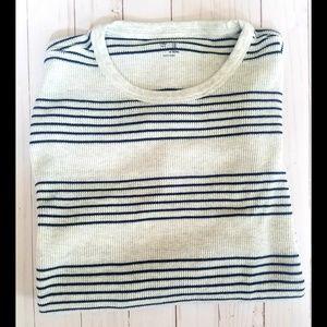 Gap Sweaters Mens Black White Striped Thermal Sweater Poshmark